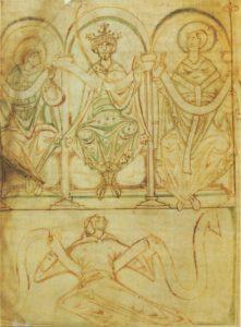 British Library, Cotton Tiberius A.iii, fol.2v